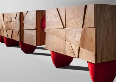 Sideboard with red legs_CyrylZ Design